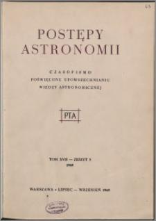 Postępy Astronomii 1969, T. 17 z. 3