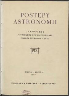 Postępy Astronomii 1973, T. 21 z. 2