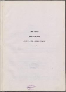 Postępy Astronomii 1978, T. 26 - spis treści