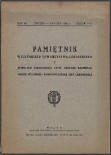 Pamiętnik Wileńskiego Towarzystwa Lekarskiego 1936, R. 12 z. 1/2