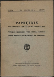 Pamiętnik Wileńskiego Towarzystwa Lekarskiego 1936, R. 12 z. 3