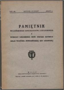 Pamiętnik Wileńskiego Towarzystwa Lekarskiego 1936, R. 12 z. 6
