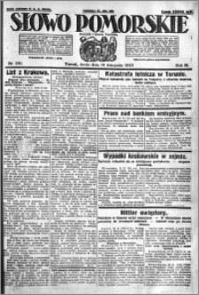 Słowo Pomorskie 1923.11.14 R.3 nr 261
