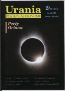 Urania - Postępy Astronomii 1998, T. 69 nr 2 (674)