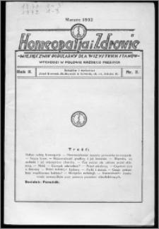 Homeopatja i Zdrowie 1932, R. 2, nr 3