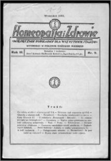 Homeopatja i Zdrowie 1933, R. 3, nr 9