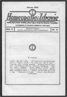 Homeopatja i Zdrowie 1935, R. 5, nr 3