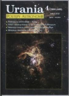 Urania - Postępy Astronomii 2000, T. 71 nr 4 (688)