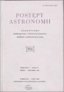 Postępy Astronomii 1988, T. 36 z. 3