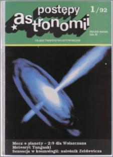 Postępy Astronomii 1992, T. 40 z. 1