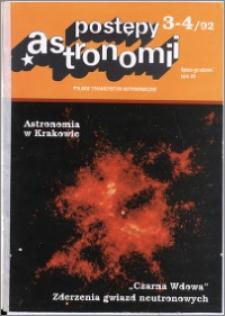 Postępy Astronomii 1992, T. 40 z. 3/4