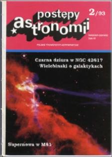 Postępy Astronomii 1993, T. 41 z. 2