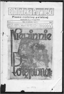 Biblioteka Powieści 1939, R. 1, nr 1