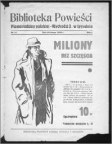 Biblioteka Powieści 1939, R. 1, nr 11