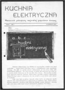 Kuchnia Elektryczna 1937, R. 1, nr 1