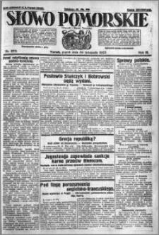Słowo Pomorskie 1923.11.30 R.3 nr 275