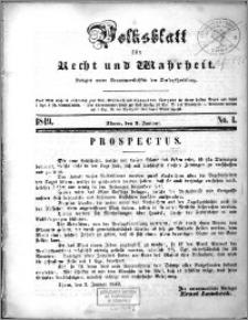 Volksblatt 1849, nr 1