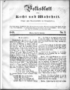 Volksblatt 1849, nr 2