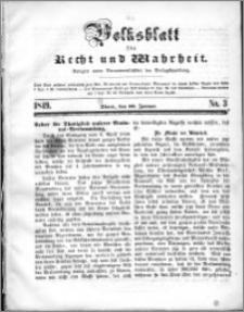 Volksblatt 1849, nr 3