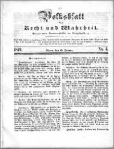 Volksblatt 1849, nr 4