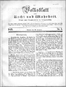Volksblatt 1849, nr 5