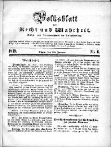 Volksblatt 1849, nr 6 + Beilage