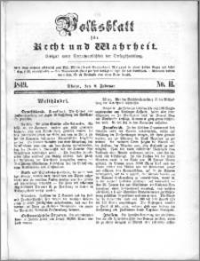 Volksblatt 1849, nr 11