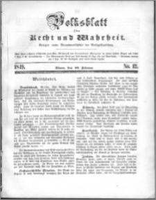 Volksblatt 1849, nr 12