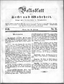 Volksblatt 1849, nr 15