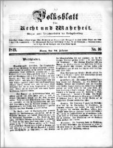 Volksblatt 1849, nr 16