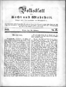 Volksblatt 1849, nr 17