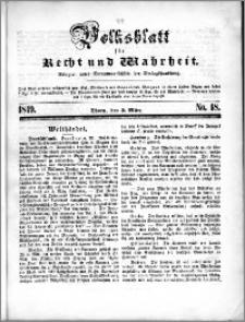 Volksblatt 1849, nr 18