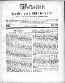 Volksblatt 1849, nr 22