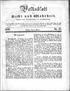 Volksblatt 1849, nr 27