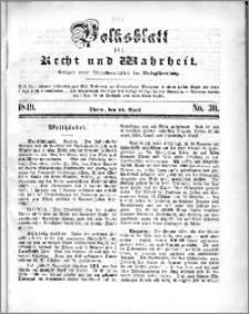 Volksblatt 1849, nr 30