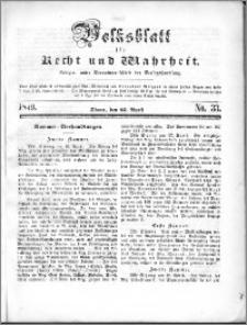 Volksblatt 1849, nr 33