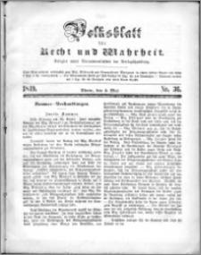 Volksblatt 1849, nr 36