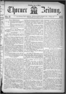 Thorner Zeitung 1869, No. 57 + Beilagenwerbung