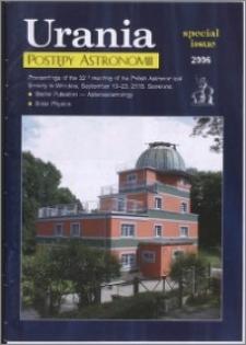 Urania - Postępy Astronomii 2006, T. 77 spec. iss.