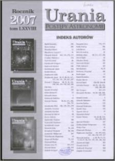 Urania - Postępy Astronomii 2007, T. 78 - indeksy
