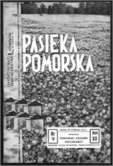 Pasieka Pomorska 1938, R. 12, nr 9