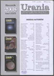 Urania - Postępy Astronomii 2008, T. 79 - indeksy