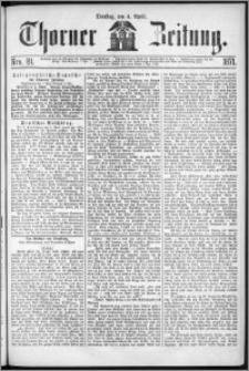 Thorner Zeitung 1871, Nro. 81