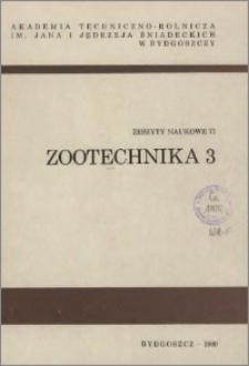 Zeszyty Naukowe. Zootechnika / Akademia Techniczno-Rolnicza im. Jana i Jędrzeja Śniadeckich w Bydgoszczy, z.3 (71), 1980