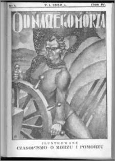 Od Naszego Morza 1932, R. 4, nr 1