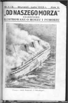 Od Naszego Morza 1933, R. 5, nr 1 i 2