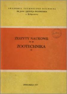 Zeszyty Naukowe. Zootechnika / Akademia Techniczno-Rolnicza im. Jana i Jędrzeja Śniadeckich w Bydgoszczy, z.2 (48), 1977