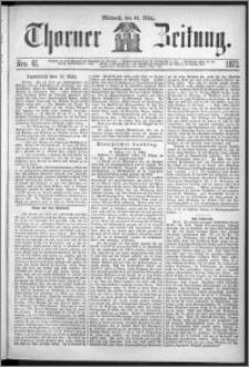 Thorner Zeitung 1872, Nro. 61