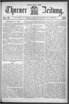 Thorner Zeitung 1872, Nro. 92 + Extra Beilage