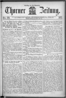 Thorner Zeitung 1872, Nro. 278